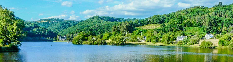 Argentat Lac de Barrage en Corrèze