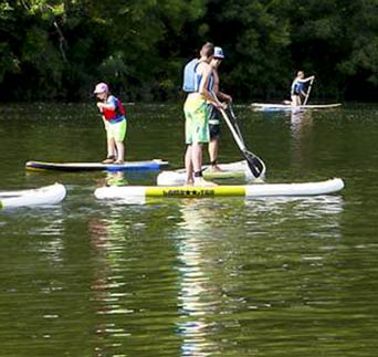 Camping stand up paddle Corrèze