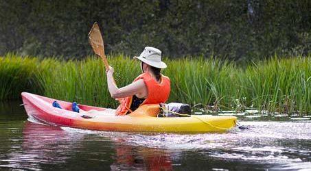 Kayak sur rivière en Corrèze