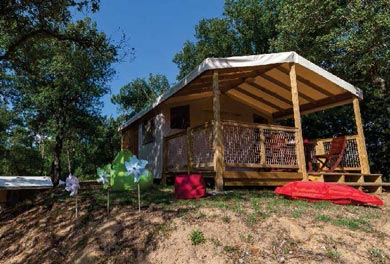 location lodge camping dordogne